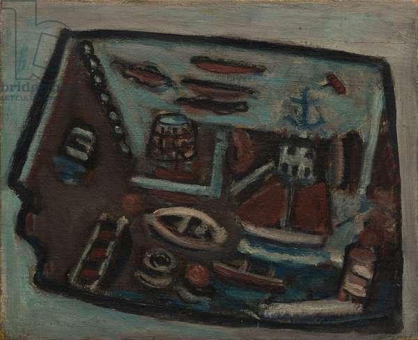 Surrealist Head, 1957 (oil on canvas)