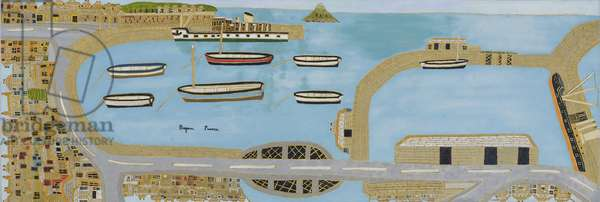 Penzance Harbour (all around), 1963 (oil on board)