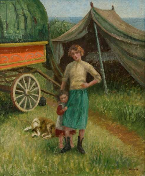 The Gypsy Camp (oil on canvas)