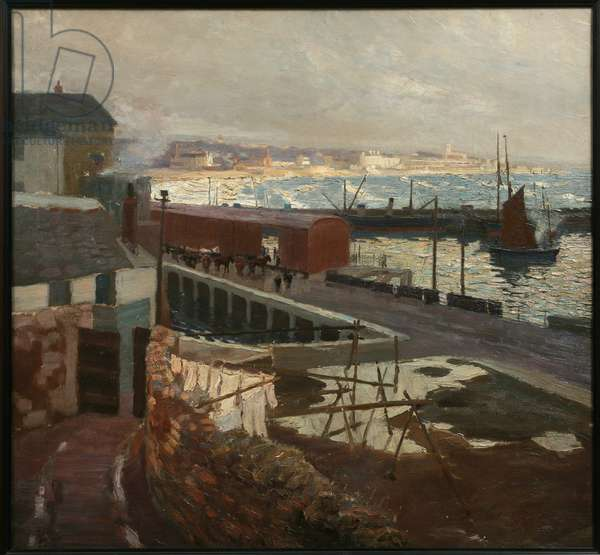 Penzance from Newlyn, 1914 (oil on canvas)