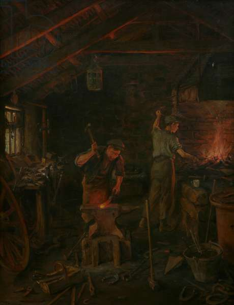 By Hammer and Hand all Arts doth Stand (oil on canvas)