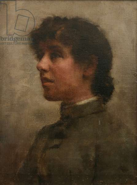 Portrait of Elizabeth Forbes, the Artist's Wife, 1890 (oil on canvas)