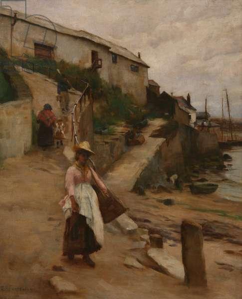 Newlyn Slip (oil on canvas)