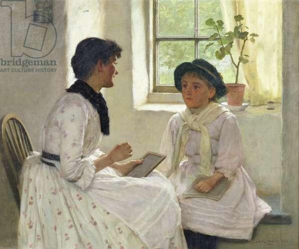 The Lesson, 1889