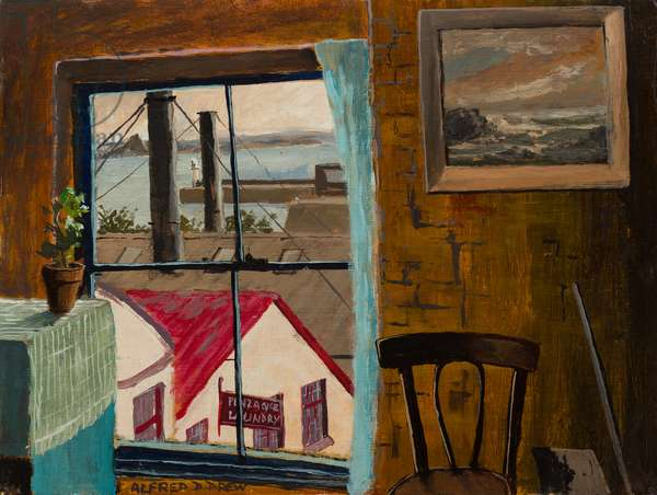 View from the Studio Window, c.1973 (oil on canvas board)