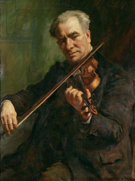 The Violinist: Walter Barnes, the conductor of the Penzance Orchestral Society, c.1933