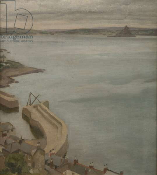 View of Mousehole Harbour (oil on canvas)