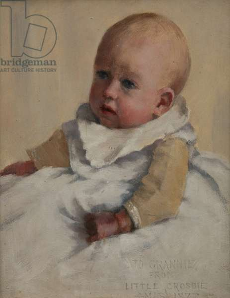 Crosbie as a Baby, 1887 (oil on canvas)