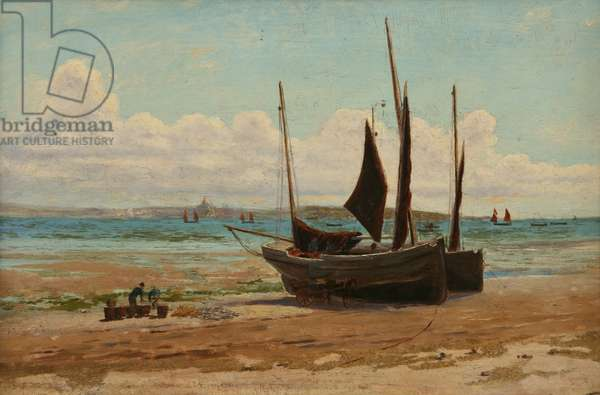 Fishing boats in Mount's Bay (oil on panel)