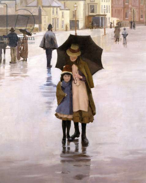The Rain it Raineth Every Day, 1889 (detail of 77655)
