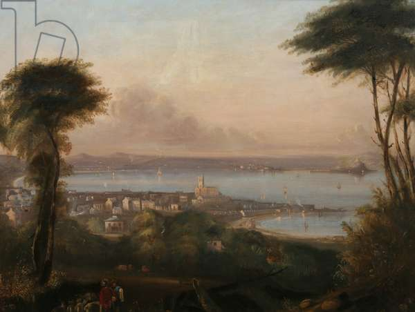 A View of Penzance, c.1836 (oil on canvas)