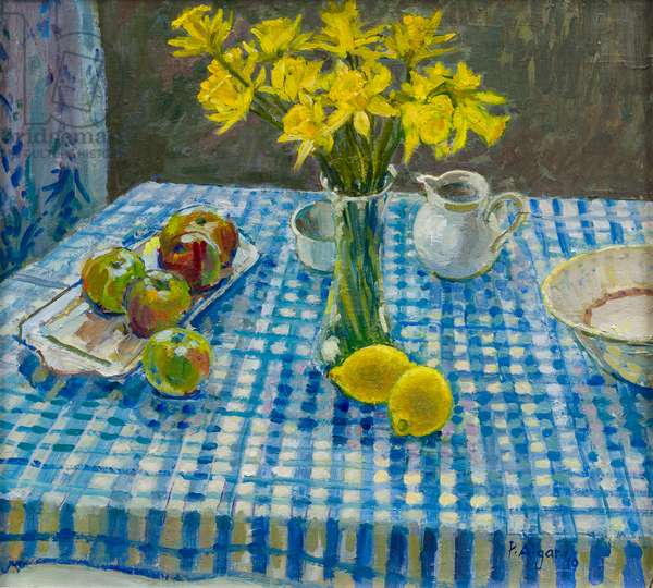 Still Life with Daffodils, 2009 (oil on board)