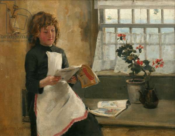 Girl in a Cottage Window, 1887 (oil on canvas)