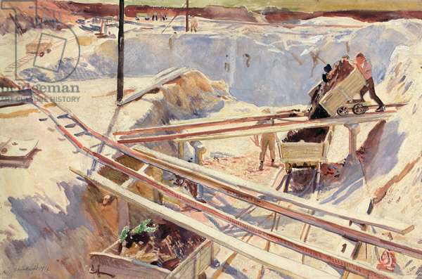 The China Clay Pit, 1914 (w/c on paper)
