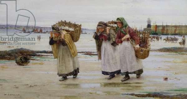 The Breadwinners, or Newlyn Fishwives (w/c)