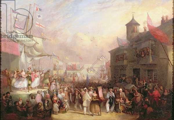 Quay Fair, 1850 (oil on canvas)