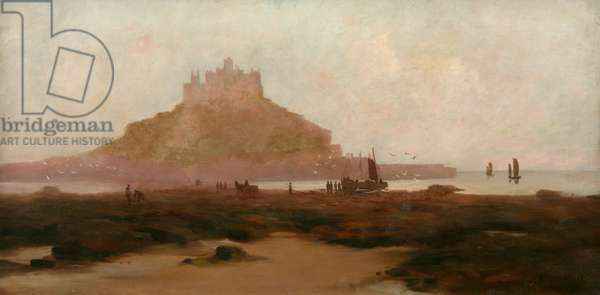 Low Tide, St Michael's Mount (oil on canvas)