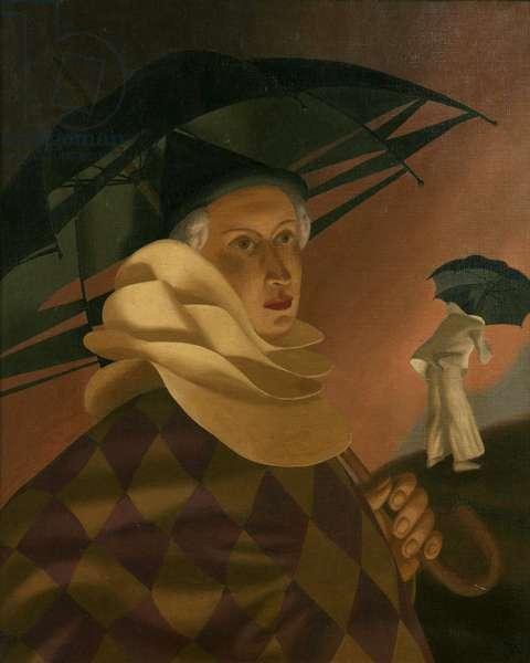 Veronica as Clown (oil on canvas)