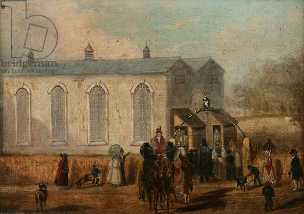 Alverton Temporary Church, c.1832-35 (oil on canvas)