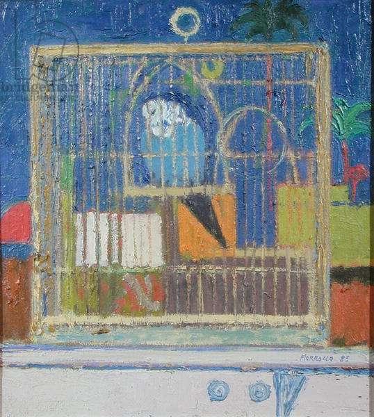 Antipodean Birdcage, 1985 (oil on board)