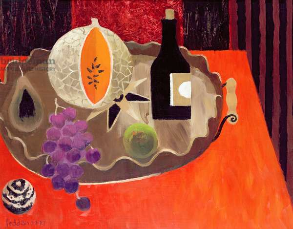 The Inlaid Tray, 1997 (oil on board)