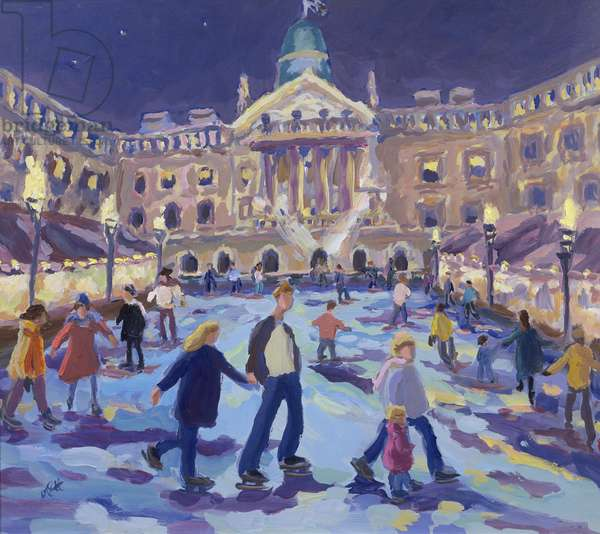 Somerset House Skaters (oil on canvas)