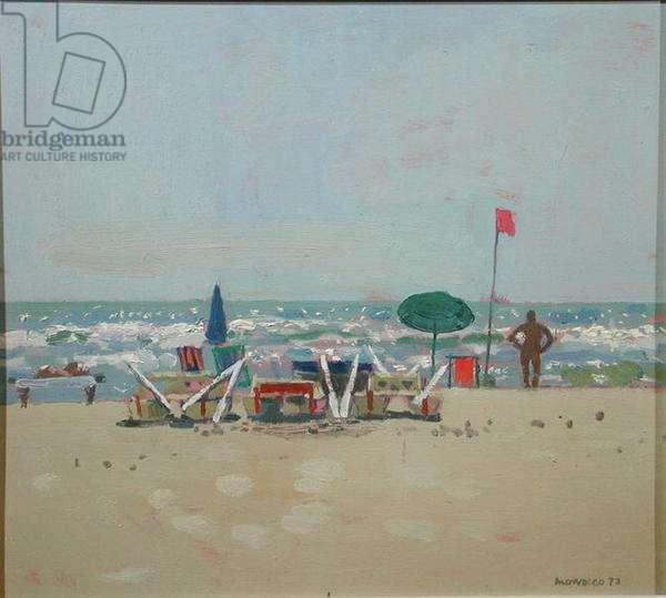 Windy Day, Pietra, 1972 (oil on board)