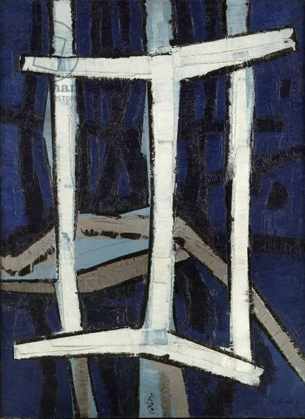 White Structure, 1954 (oil on canvas)