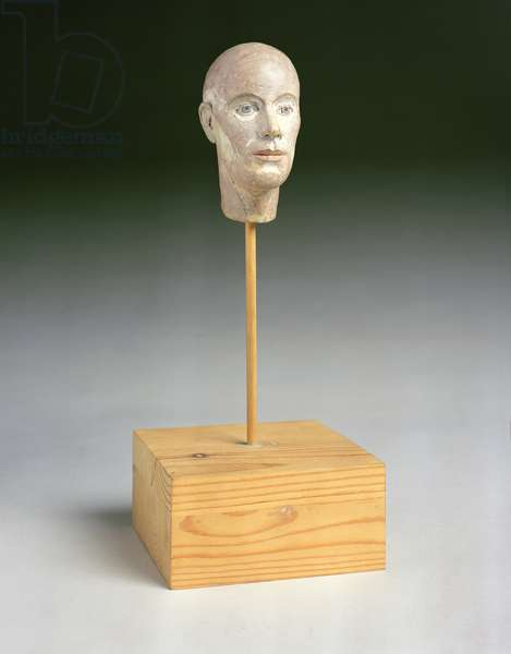 Small Head No.17, 1978 (plaster on a wood base)