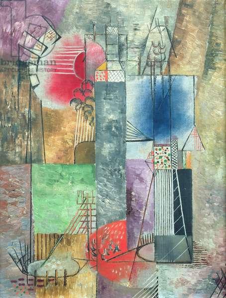 Komposition in vier Akzenten, 1920 (oil on canvas)