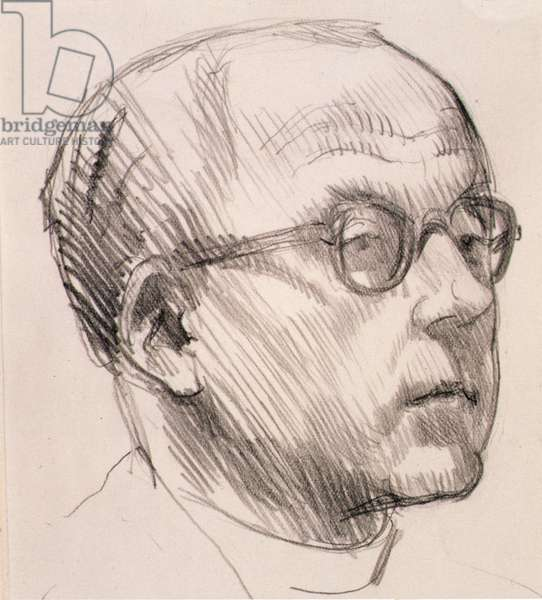 Portrait of Walter Hussey (1909-85) 1953 (pencil on paper)