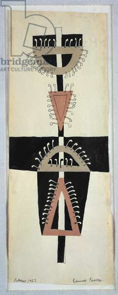 Target, 1947 (ink & collage on paper)