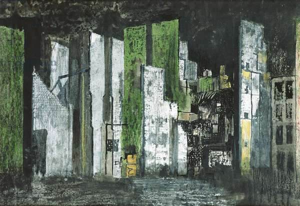 Devastation 1941 - City Panorama, 1941 (ink, crayone & gouache on paper)