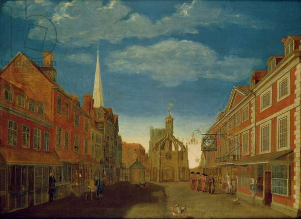 East Street, Chichester, 1715 (oil on canvas)
