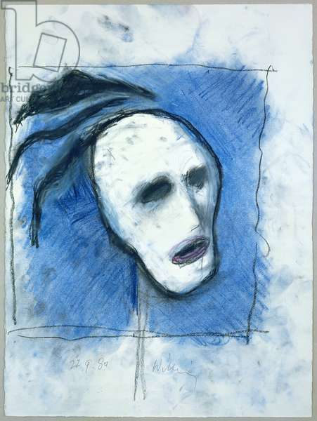 23-10-83 Widow, 1983 (charcoal & pastel drawing on paper)