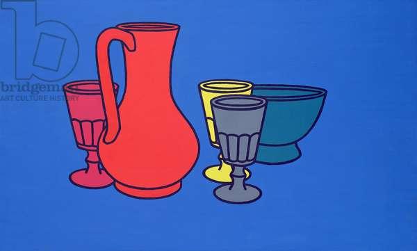 Coloured Still Life, 1967 (acrylic on board)