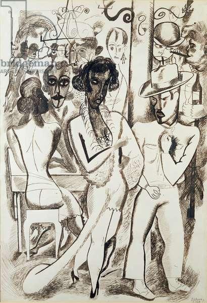 Havana, 1928 (pen & ink on paper)