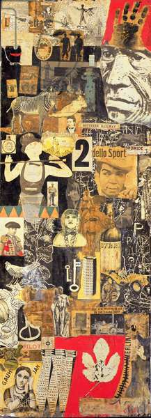 Screen, 1949-52 and 1960 (collage, oil paint & photographic processes on wood panel) (one of four panels, see also 261546, 261547, 261548)