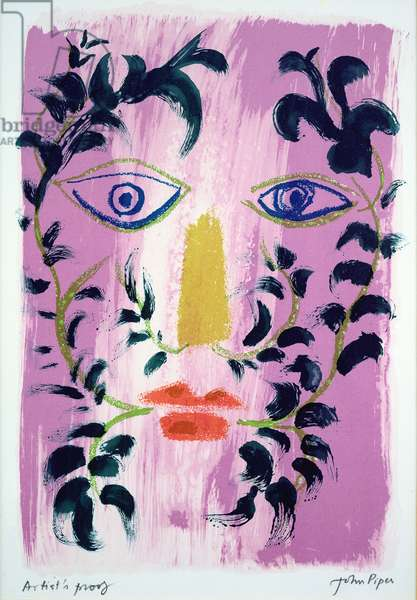 Foliate Head, 1971 (colour litho)