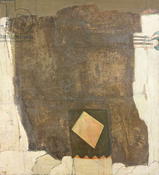 Brown Wall, 1964 (oil on canvas)