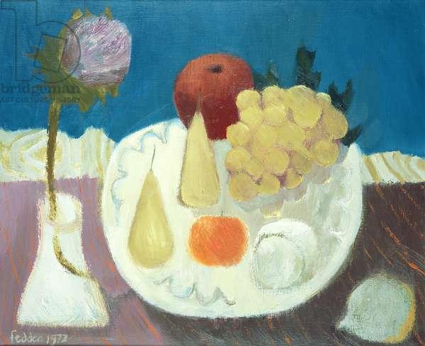Still Life with Artichoke, 1972 (oil on canvas)