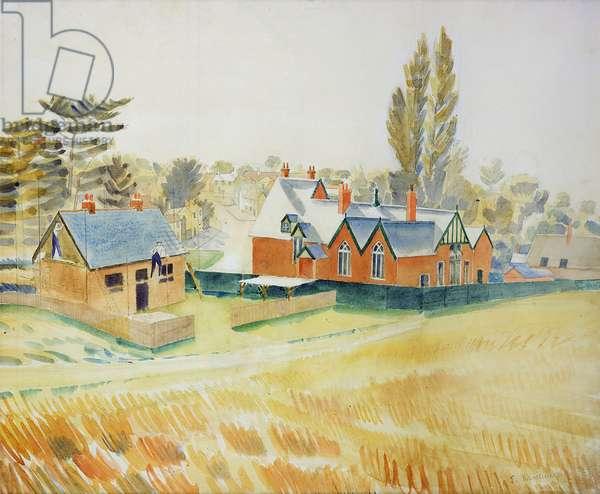 New Bungalow, c.1930 (w/c & pencil on paper)