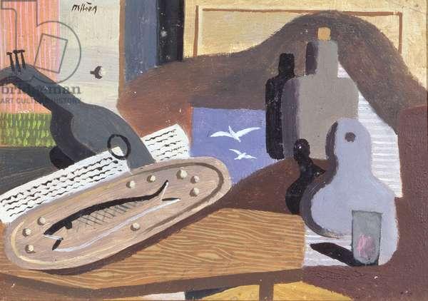 La Truite aux Pommes Vapeurs, 1934 (oil on panel)