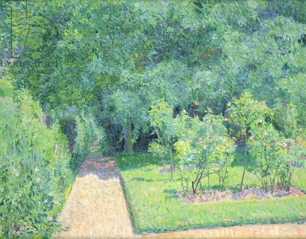 The Garden Path, Garth House, c.1910 (oil on canvas)
