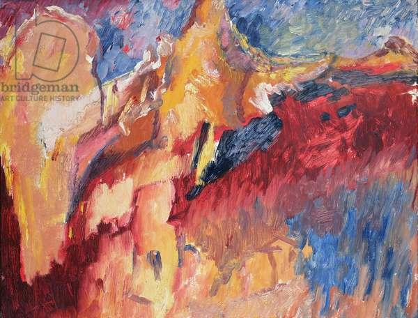 Tajo and Rocks, Ronda (The Last Landscape) 1956-57 (oil on canvas)