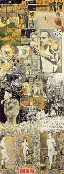 Screen, 1949-52 and 1960 (collage, oil paint & photographic processes on wood panel) (one of four panels, see also 261545, 261546, 261547)