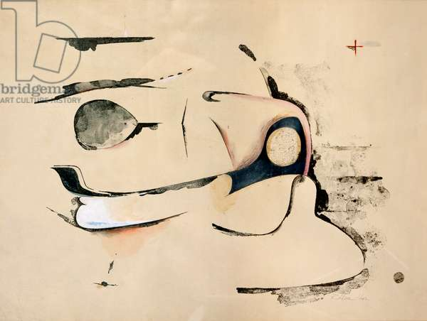 Homage to Chrysler Corp, 1957 (litho & collage on paper)