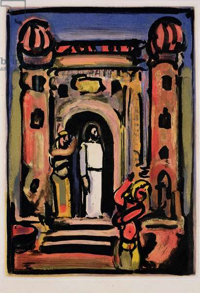 Ecce Homo (Christ before the People) 1935-36 (coloured aquatint)