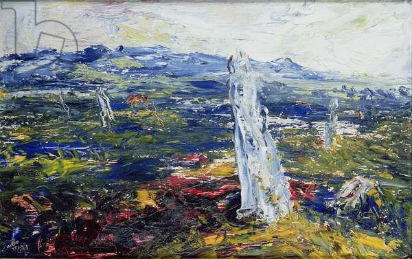 The Ox Mountains, 1944 (oil on hardboard)