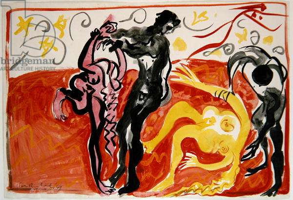 The Rape of the Sabines, 1949 (w/c on paper)